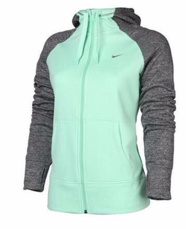 jacket grey and turquoise nike jacket hoodie sportswear nike sportswear gym fitness mint teal nike hoodie nike teal and grey zip up sweatshirt sweater tiffany blue nike mint nike mint coat i just love it