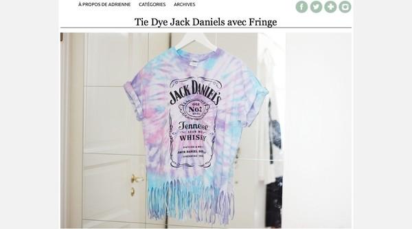 t-shirt jack daniel's tie dye fringes