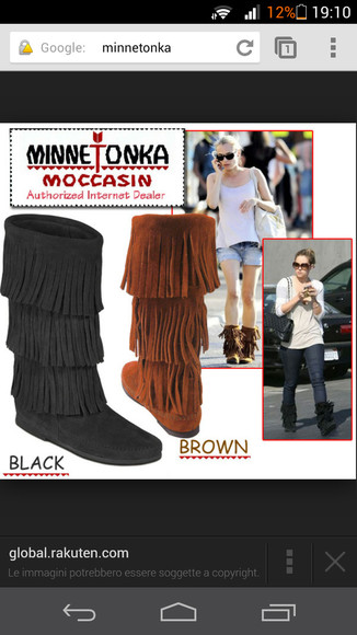 shoes boots simil minnetonka moccasins black brown