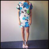 shoes,shakuhachi,neon,white,sandals,summer,t-shirt dress