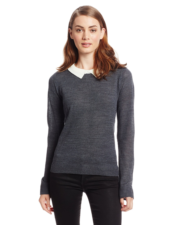Amazon.com: jack juniors by bb dakota fine gauge collared sweater: clothing