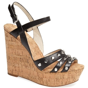 MICHAEL Michael Kors Black Wedge Sandal - Sale