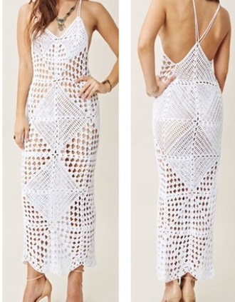 dress maxi dress crotchet dress lace dress white dress