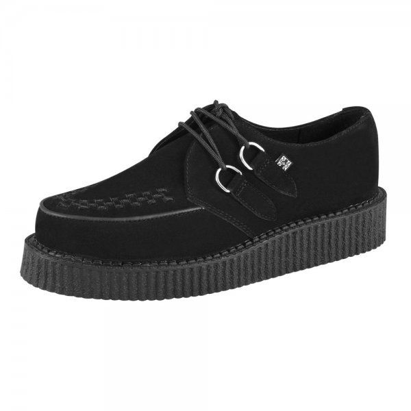 TUK New T U K Unisex Black Lo Sole Brothel Creepers Sneakers Suede Shoes FAB514 | eBay