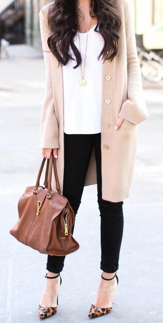 cardigan brown leather bag long cardigan bag designer designer bag brown purse beige cardigan shoes