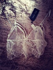 tank top,lace bralette,sexy lingerie,sea of shoes,lace bra,white lace top,white lace