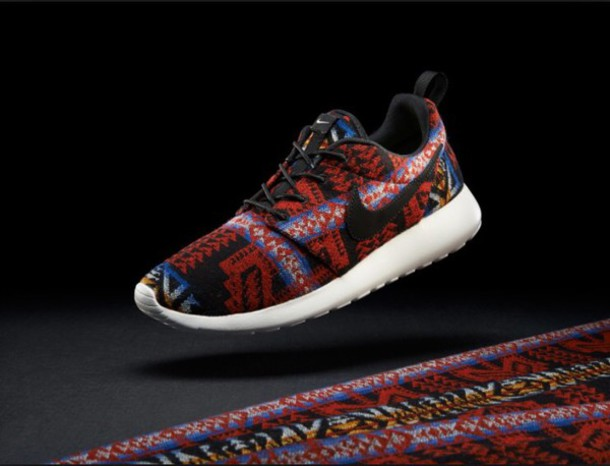 shoes roshe runs tribal pattern nike roshe run nike sneakers low top sneakers nike