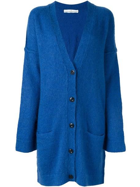 cardigan oversized cardigan cardigan oversized women mohair blue wool sweater