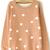 Khaki Long Sleeve Polka Dot Pullover Sweater - Sheinside.com