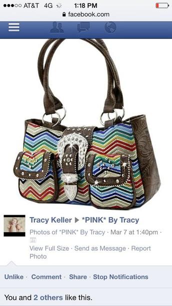 bag chevron western purse
