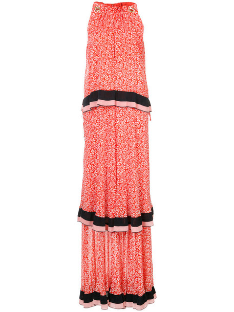 DEREK LAM 10 CROSBY dress maxi dress maxi sleeveless women silk red