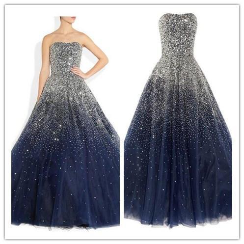 navy blue prom Dress,A-line Prom Dresses,long prom dress,charming prom dresses