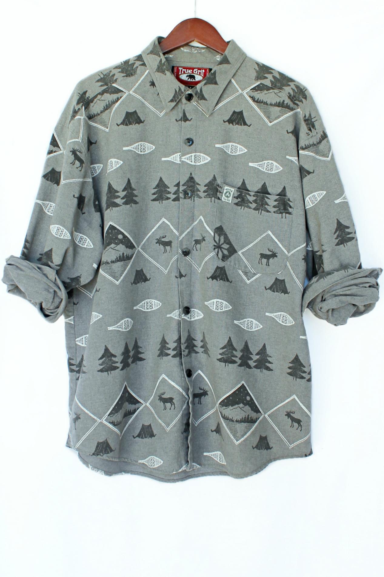 Happy Camper Button-Down Shirt | Just Vu
