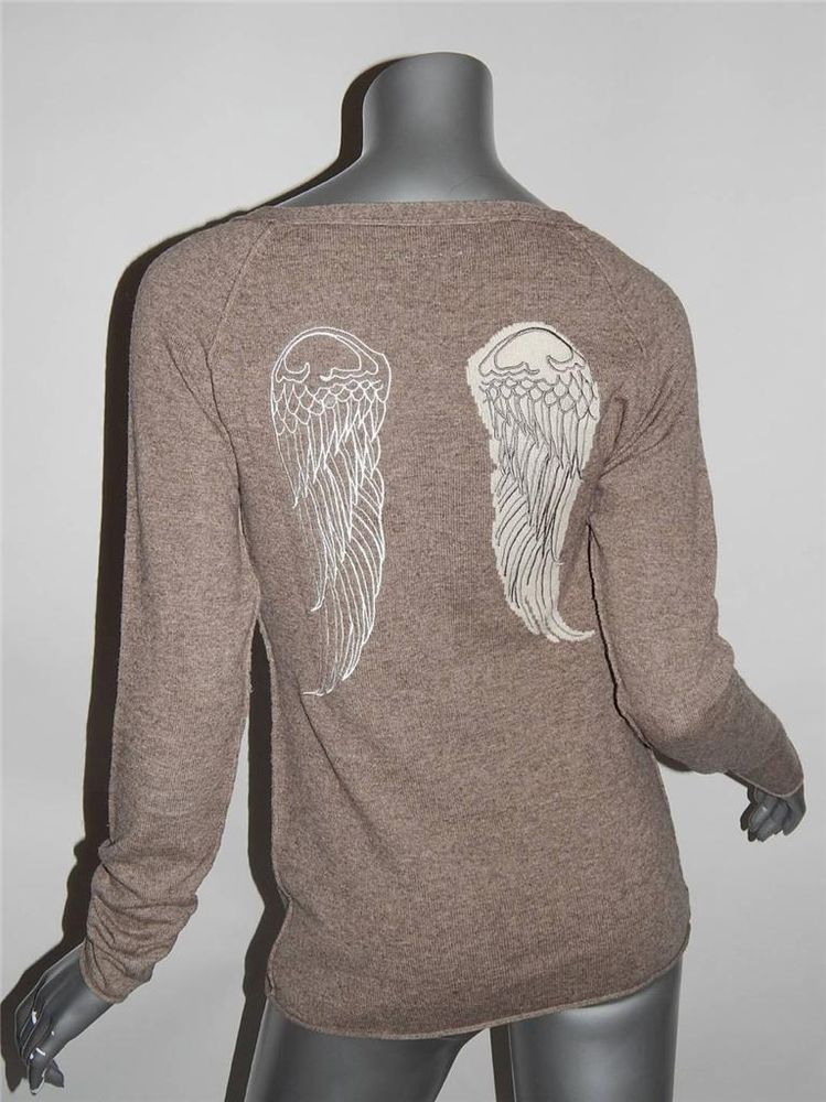 Berenice gilet Sz s Taupe Brown Wool Yak Blend Angel Wing Henley Sweater Top | eBay
