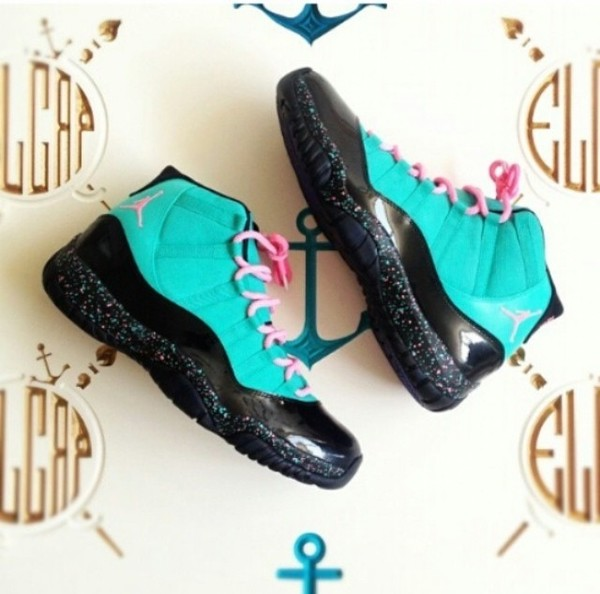 shoes one in a million jordans turquoise sneakers concords black pink blue