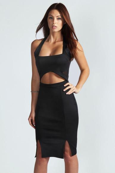 sexy dress cut-out dress black little black dress sexy sexy black dresses boohoo.com outfit