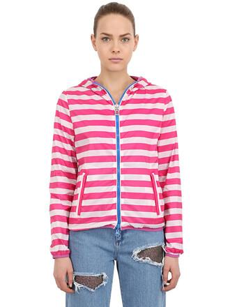 jacket windbreaker white pink