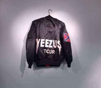 coat yeezus kanye kanye west kanyewest tour dope celebrity brand dope shit swag cool incredible grunge rapper rap god street style soft grunge soft ghetto bomber jacket mens jacket jacket