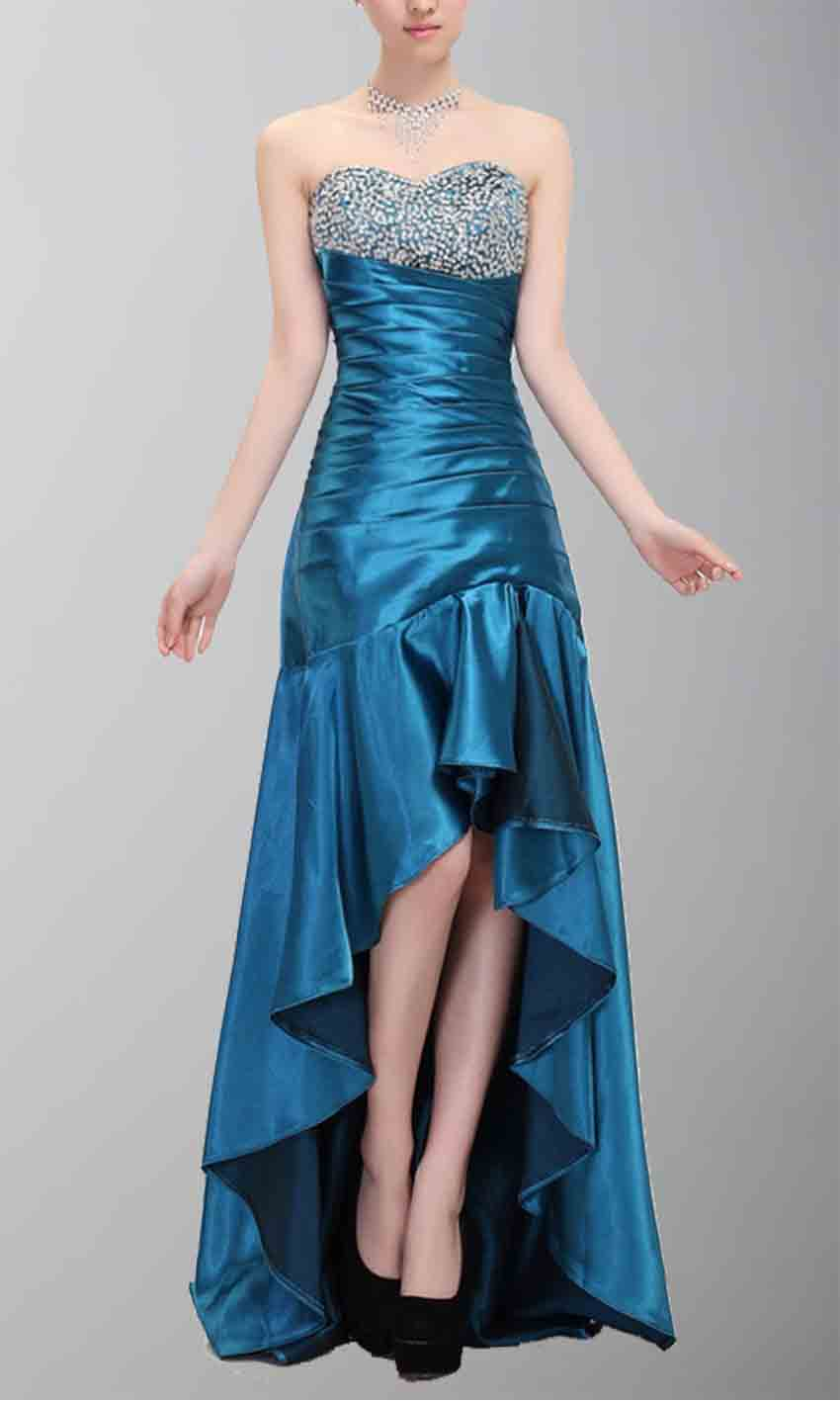 Strapless Beaded Blue High Low Prom Dresses KSP112 [KSP112] - £103.00 : Cheap Prom Dresses Uk, Bridesmaid Dresses, 2014 Prom & Evening Dresses, Look for cheap elegant prom dresses 2014, cocktail gowns, or dresses for special occasions? kissprom.co.uk offers various bridesmaid dresses, evening dress, free shipping to UK etc.