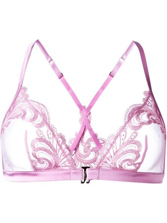 bra triangle purple pink underwear