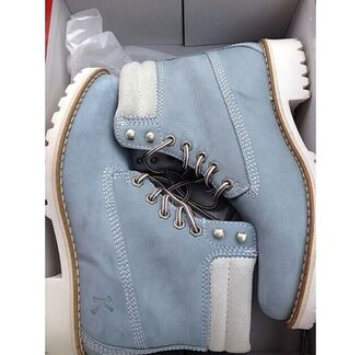 shoes shoe game timberland boots shoes timberlands boots timberland boots baby blue dope on point clothing