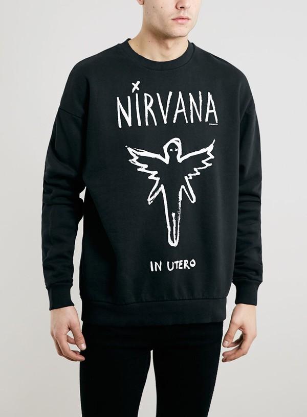sweater nirvana sweatshirt nirvana t-shirt nirvana hoodie menswear mens sweater nirvana