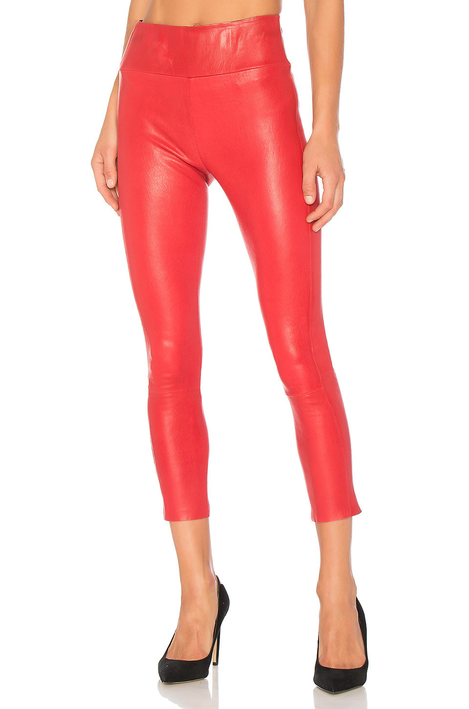 SPRWMN High Waist 3/4 Legging in red