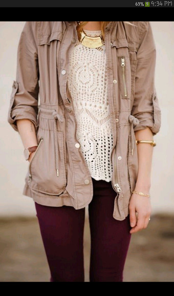 jacket brown jacket light jacket light brown top nude beige fall outfits warm