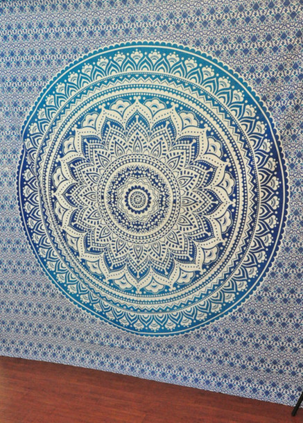 home accessory, hippie mandala tapestries, queen bedcover, bedding ...