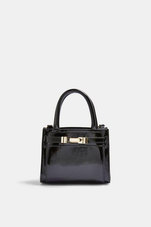 Cass Patent Mini Bag - Black