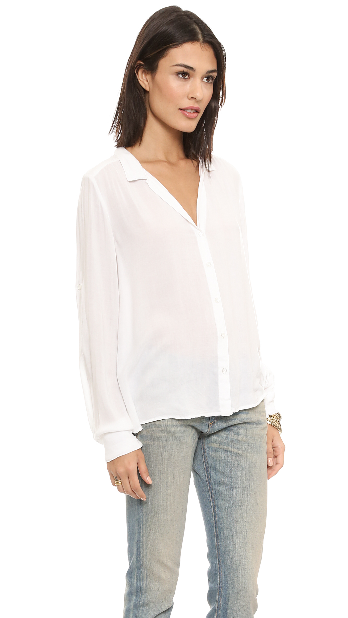 Bella Dahl Long Sleeve Tulip Back Shirt | SHOPBOP
