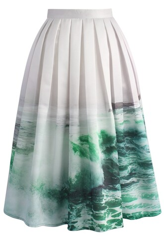 skirt coastal demeanour printed midi skirt chicwish midi skirt printed skirt