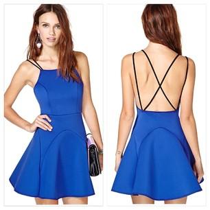Cross Back Spaghetti Strip Skirt - Juicy Wardrobe