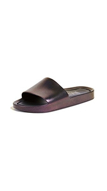 Melissa beach sandals iridescent red shoes
