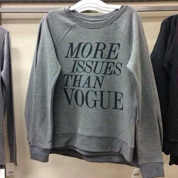 sweater more issues than vogue