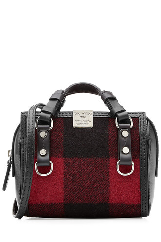mini leather wool multicolor bag