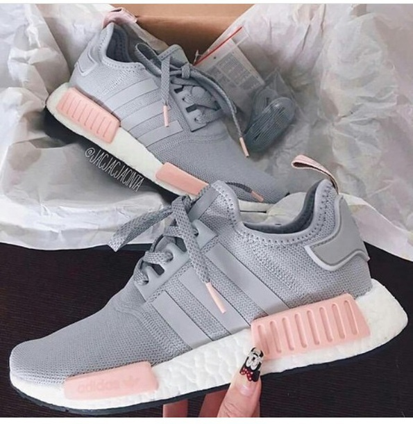 Adidas Shoes Gray And Pink
