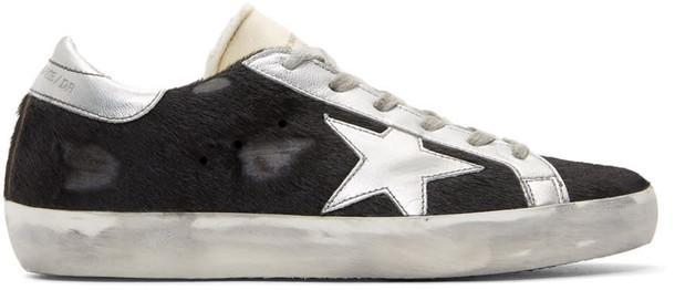 Golden goose hair sneakers black shoes