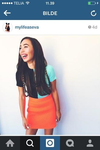 skirt pretty orange skirt