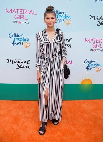 dress style zendaya fashion striped dress blouse summer dress long dress