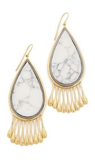earrings marble gold grey jewels