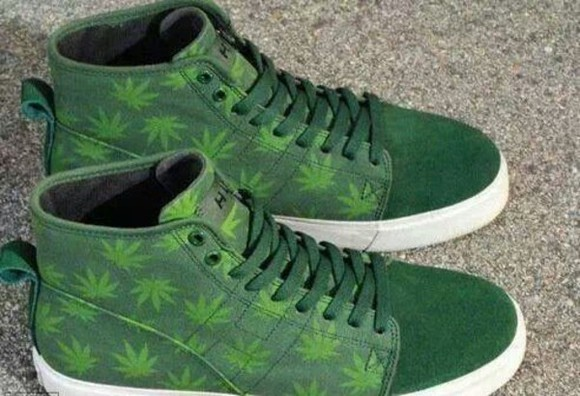 shoes green shoes weed