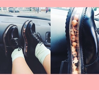 shoes platform shoes melanie martinez black derbies
