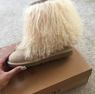 shoes ugg boots furry uggs winter material cute asf warm and cozy fleek $$$$