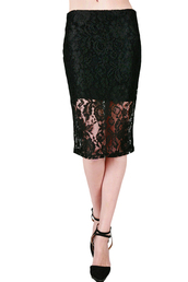 midi lace skirt,new,lace,black lace,lace skirt,black lace skirt,midi skirt,black,fashion,simplychic,trendy,office outfits,evening outfits