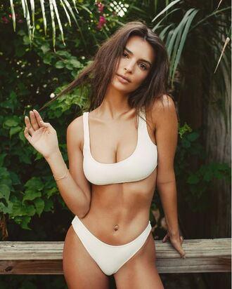 swimwear emily ratajkowski bikini bikini top bikini bottoms instagram