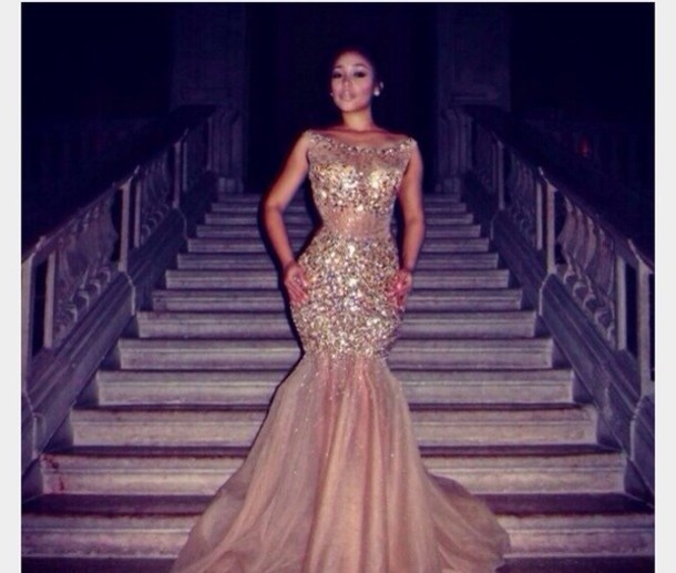 Cheap Sequined Prom Dress - Discount Sparkle Sequined Mermaid Prom ...