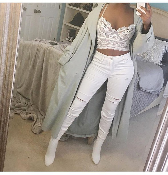 78aaaf5c3a jeans all white everything outfit outfit idea summer outfits cute outfits  winter outfits fall outfits spring