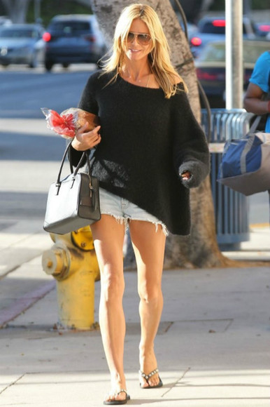 heidi klum sweater sunglasses