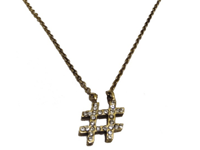 Hashtag Necklace - Electric Picks Rock Jewelry